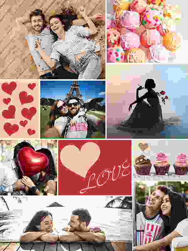 "Fotopuzzle-Collage ""LOVE"" mit 8 Bildern"